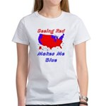 Seeing Red Makes Me Blue Women's T-Shirt