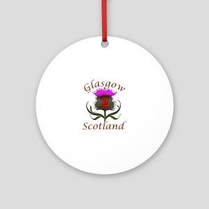 Glasgow Scotland thistle Ornament (Round)