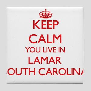 Keep calm you live in Lamar South Car Tile Coaster