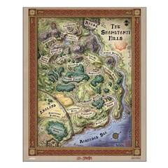 "Shamutanti Hills Map 16"" Print Poster Design"