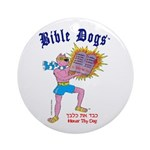 BIBLE DOGS Round Ornament