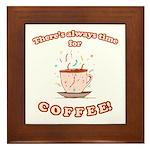 Coffee Time Framed Tile