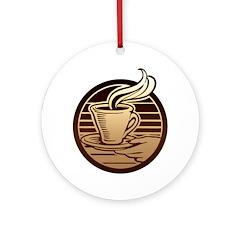 Coffee Mug Ornament (Round)