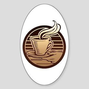 Coffee Mug Oval Sticker