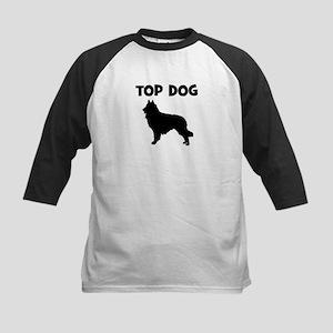 Belgian Tervuren - top dog Kids Baseball Jersey