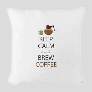 Brew Coffee Woven Throw Pillow