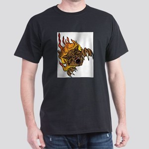 Fire Cat (Front only) Dark T-Shirt