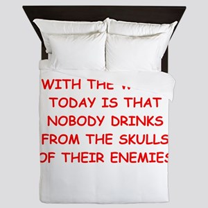 skulls of enemies Queen Duvet