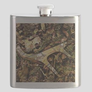camouflage deer antler Flask