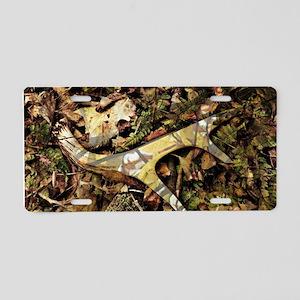 camouflage deer antler Aluminum License Plate