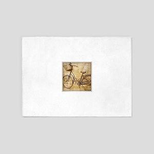 vintage Bicycle retro art 5'x7'Area Rug