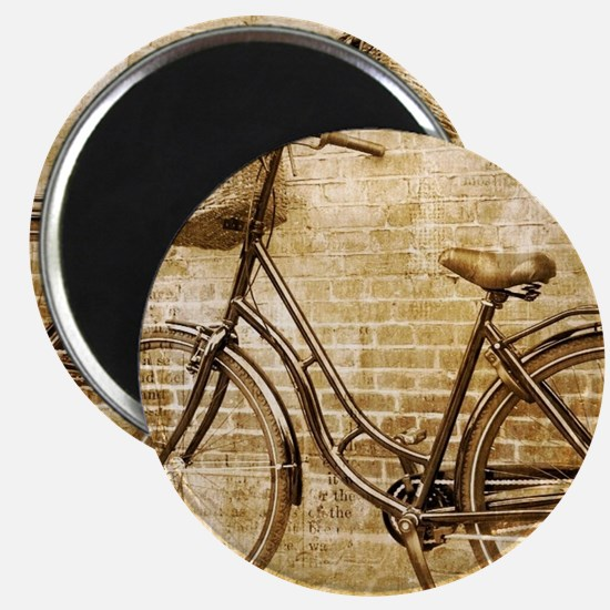 vintage Bicycle fashion art Magnets