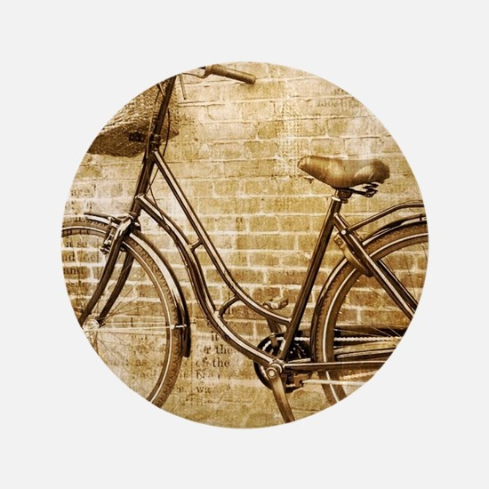"vintage Bicycle retro art 3.5"" Button (100 pack)"