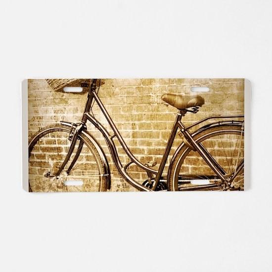 vintage Bicycle retro art Aluminum License Plate