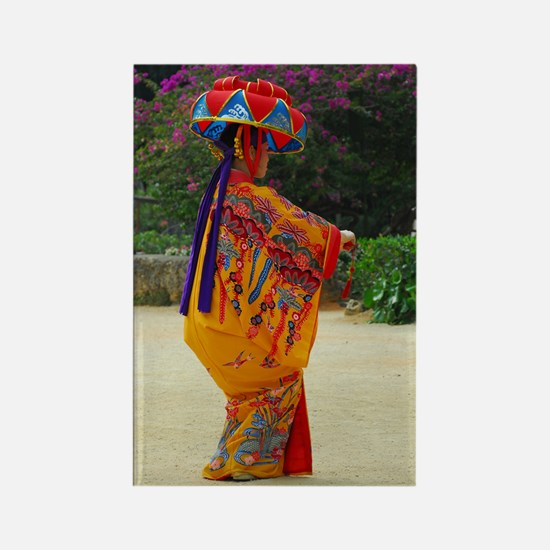 Okinawan Dancer Rectangle Magnet