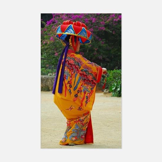 Okinawan Dancer Rectangle Decal