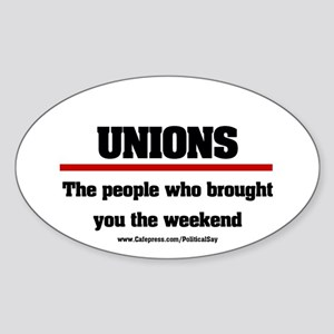 Union Weekend Oval Sticker