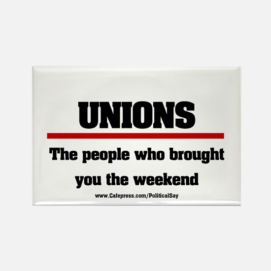 Union Weekend Rectangle Magnet