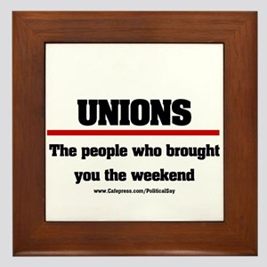 Union Weekend Framed Tile