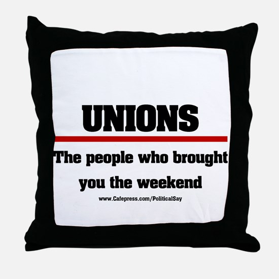 Union Weekend Throw Pillow