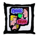 Retro Coffee Break Throw Pillow