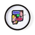 Retro Coffee Break Wall Clock