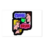 Retro Coffee Break Postcards (Package of 8)