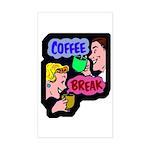 Retro Coffee Break Rectangle Sticker