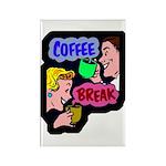 Retro Coffee Break Rectangle Magnet