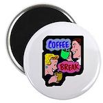 Retro Coffee Break Magnet