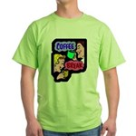 Retro Coffee Break Green T-Shirt