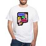 Retro Coffee Break White T-Shirt