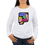 Retro Coffee Break Women's Long Sleeve T-Shirt