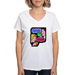 Retro Coffee Break Women's V-Neck T-Shirt