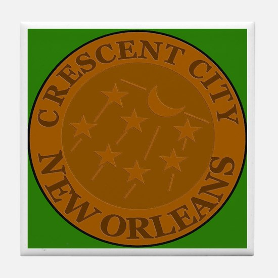 Crescent City Lid Tile Coaster