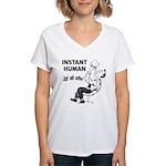 Instant Human Women's V-Neck T-Shirt