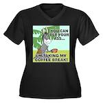 Bet Your Ass Women's Plus Size V-Neck Dark T-Shirt