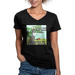 Bet Your Ass Women's V-Neck Dark T-Shirt