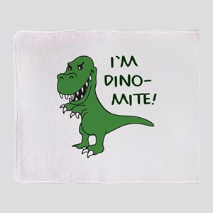 IM DINOMITE Throw Blanket