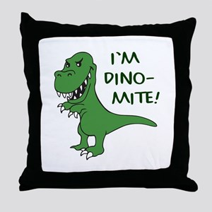 IM DINOMITE Throw Pillow