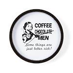 Coffee, Chocolate, Men Wall Clock