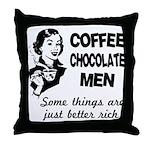 Coffee, Chocolate, Men Throw Pillow