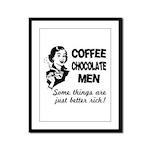 Coffee, Chocolate, Men Framed Panel Print