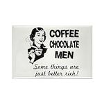 Coffee, Chocolate, Men Rectangle Magnet