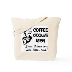 Coffee, Chocolate, Men Tote Bag