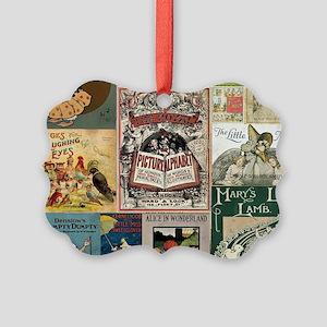 Vintage Book Cover Illustrations Ornament