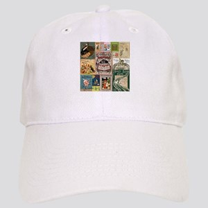 Vintage Book Cover Illustrations Baseball Cap