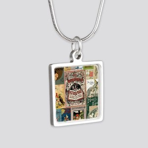 Vintage Book Cover Illustrations Necklaces