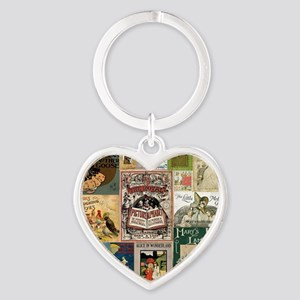 Vintage Book Cover Illustrations Keychains