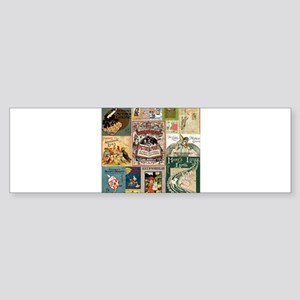 Vintage Book Cover Illustrations Bumper Sticker
